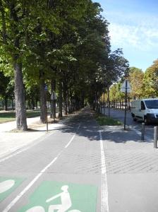 Chemin pour vélos